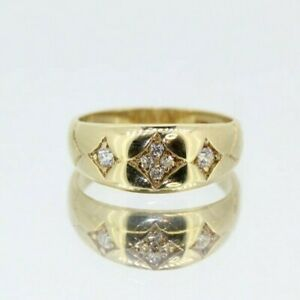 9ct Yellow Gold Gypsy Ring (Size M, US 6 1/4)
