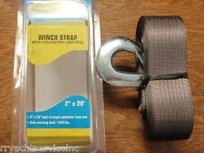 """TRAILER WINCH STRAP SEACHOICE 51241 WITH LOOP END 20FT 2"""" WIDE MARINE BOAT PART"""