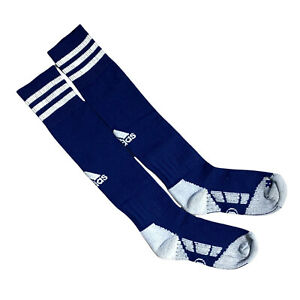 adidas Kids Football Socks Navy Blue 3 Stripe Logo Salz A Sock Size UK 13.5-2