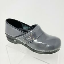 Women's KOI by SANITA Gray Patent Leather Slip On Clogs Shoes Size 41 US 10-10.5
