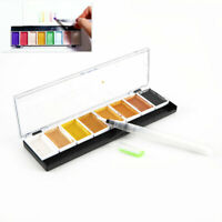 5/8Colors Solid Water Color Metallic Gold Pearl Pigment Paint with Waterbrush
