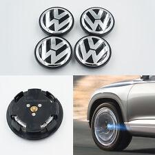 4X Car Cover Hood LED Tire Emblem Wheel Center Hub Cap Lamp For VW CC Golf EOS