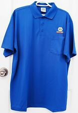 NEW Unisex 100% Polyester NAPA AUTO PARTS Blue Polo Uniform Shirt Large/L (HPI)