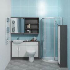 CG bagno vanità specchio unità con rubinetto Bacino Bagno Gabinetto Suite Grigio Bianco
