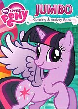 """My Little Pony Jumbo Coloring and Activity Book 96 Pages 8x11"""" NEW"""