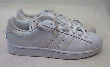 Adidas Superstar Foundation Mens B27136 White Leather Shell Toe Shoes Size 10
