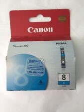 New! Canon Pixma CLI-8C Cyan Ink Cartridge ChromaLife 100