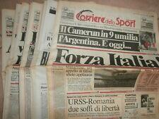 RARE 35 Original Newspapers Italy 90 IAAF World Football Complete