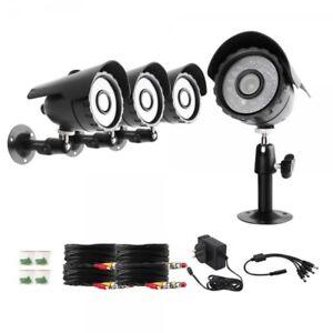 Zmodo 600TVL Bullet 4er Pack Überwachungskamera Videoüberwachung Analog