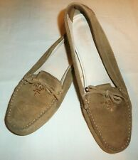 PRADA - beige suede moccasins  loafers  - UK: 6 ; EUR: 39 - AUTHENTIC