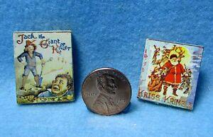 Dollhouse Miniature Childrens Book Set Jack and The Giant & Kris Kringle IM65227