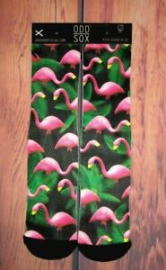 MENS ODD SOX FLAMINGO CREW SOCKS ONE SIZE