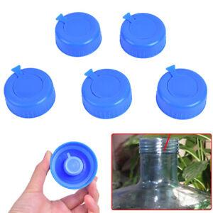 5PCS Barrelled Bottled Water Sealing Cap Cover Lid Screw Reusable B*ws
