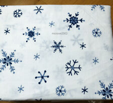 Tommy Hilfiger Snowflake 4pc Queen Flannel Sheet Set Cotton snow * Navy Blue New