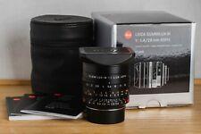 LEICA M SUMMILUX f 1:1.4/28mm ASPH 11668 Leitz 35mm Lens M3 M6 M9 M10 M-P Leitz