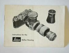 Very Clean Instructions for the Leica Reflex Housing 1953 #P-4105