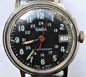 NO RESERVE Retro 1960's Timex Saga Vintage Mechanical Wristwatch Military Style