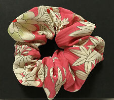 Kimono Scrunchie Hair Accessories Handmade Made in Japan Flower  kawaii Pink