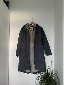 Seasalt Grey Waterproof Long Warm Winter Coat, Size 14