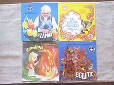 Set of 4 Children Books in Latvian Vintage Retro 70s 80s Illustrations