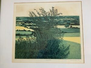 Philip Greenwood signed limited edition print Green Vale 60/75 74cm framed width