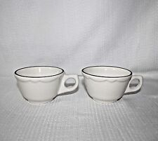 Set Of 2 Vintage Buffalo China Manhattan Black 8oz Coffee Mug Restaurant Ware