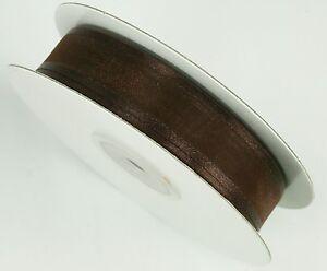 "5/8"" Organza Sheer SATIN EDGE Ribbon 25 yds each Roll 100% Nylon"