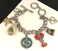 Juicy Couture Charm Bracelet Nautical Theme Lobster Shell Limited Edition 7S