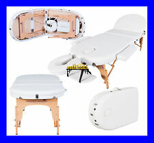"IVORY WHITE MONARCH PORTABLE MASSAGE TABLE COUCH BEAUTY THERAY PBED REIKI 3"" SPA"