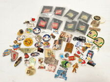 RARE VINTAGE COLLECTION LOT OF 61 MIXED PINS & BUTTONS DISNEY BASEBALL COKE
