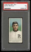 Rare 1909-11 T206 Dutch Revelle Old Mill Southern League Richmond PSA 3 VG