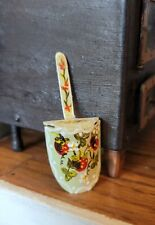 MINIATURE ARTISAN HAND PAINTED METAL SCOOP STRAWBERRY DESIGN
