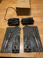 PAIR LIONEL TRAIN 1122 REMOTE SWITCHES WITH LANTERS  LEFT & RIGHT ~ POSTWAR  O27