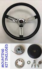 """1969-1993 Pontiac GTO Firebird LeMans Black Chrome Spokes Steering Wheel 13 1/2"""""""