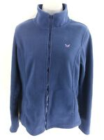 CREW CLOTHING Womens Fleece Jacket 10 Blue Polyester Full Zip