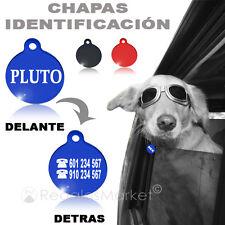 Chapa identificación / Placa identificacion redonda para collar gatos y perros
