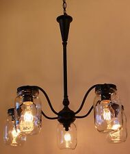 Rustic Vintage Industrial Edison Bulb Type Bronze Ceiling Chandelier UL Rated