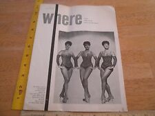 The Elkins Sisters Where to go in Cleveland 1969 magazine Grecian Gardens