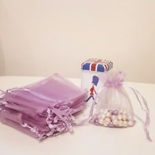 25/50 Organza Bags Wedding Party Favour Gift Candy Jewellery Pouch Large Small