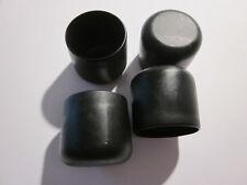 4 Stuhlbeinkappen schwarz 30 Mm Möbelgleiter Filzgleiter Kappen Rohrkappen