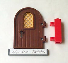 Lego Door with Gold Lattice Pane 7189 Castle