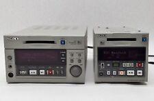 Lot 2 Sony Mds-B3 Mds-B5 Professional Mini Disc Xlr Player Recorder Md Parts
