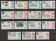 Bahamas 1966 Complete set SG 273-287 Mnh.
