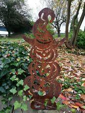 Edelrost Gartenstecker Halloween kürbis