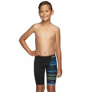 Speedo Boys Game On Jammer - Black & Game On, Boys Speedo Swimwear
