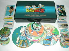 DRAGON BALL Z MENKO RARE COLLECTION CASE & CARDS DRAGONBALL Z POGS VINTAGE GAME