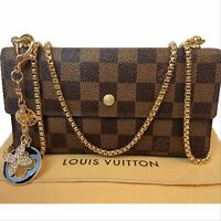 Louis Vuitton Cross Body Damier Ebene Sarah Wallet  ~US SELLER