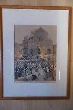 Terremoto in Sicilia-grande processione a Messina-con telaio in legno -- CHIAVE IN LEGNO -1895