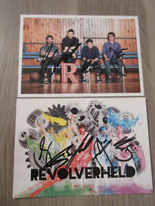 Revolverheld 2 original handsignierte Autogrammkarten / Musik T27