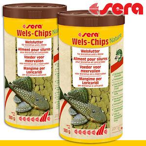 Sera 2x 1000ml Wels-Chips Natürlich Pills Food Ground Fish Grundeln Growth